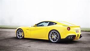 Download Wallpaper 1366x768 Yellow supercar, Ferrari F12 ...