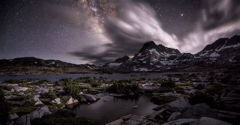Photograph The Milky Way With Moonlight Goldpaint