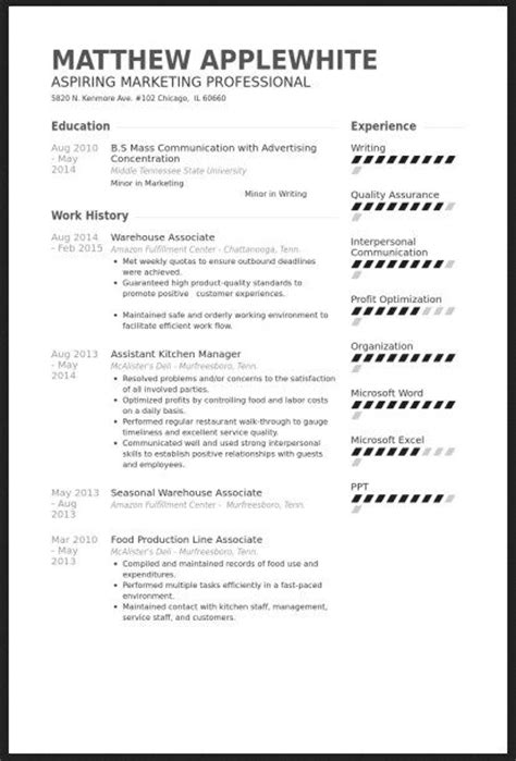Warehouse Associate Resume Skills by Resume And Warehouses On