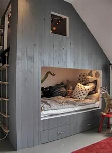 Cabane Chambre Fille : lit cabane une chambre d 39 enfant rigolote et personnalis e ~ Teatrodelosmanantiales.com Idées de Décoration