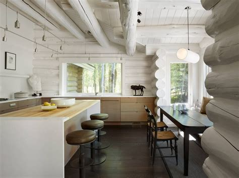 Log Cabin Style Meets Ethnic Modern Interior Design by Yellowbell Home By Carney Logan Burke Architects Homeadore