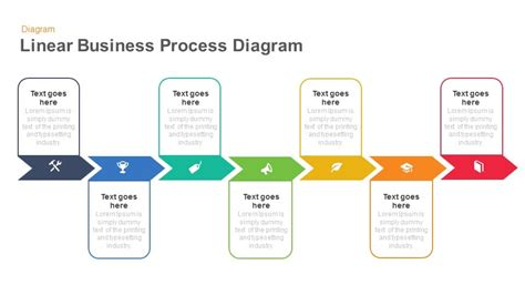 linear business process diagrams keynote  powerpoint