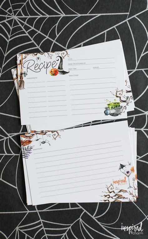 printable recipe cards  halloween printable