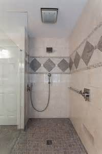 handicap bathrooms designs curbless shower design lou vaughn remodeling