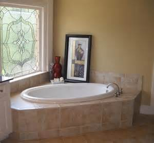 garden tub decorating photos
