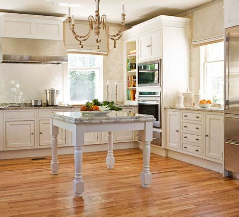 Farmhouse Sink & Table Island Two Kitchen Ideas