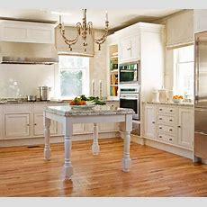 Farmhouse Sink & Table Island Two Kitchen Ideas