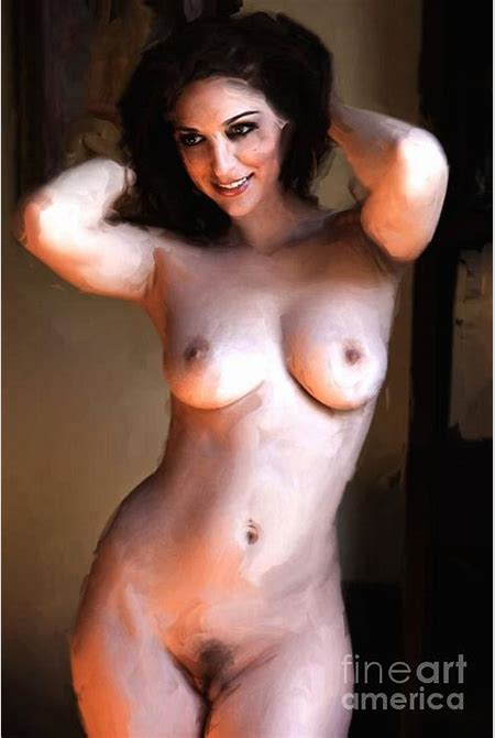 Voluptuous Nude 1 Painting Photograph