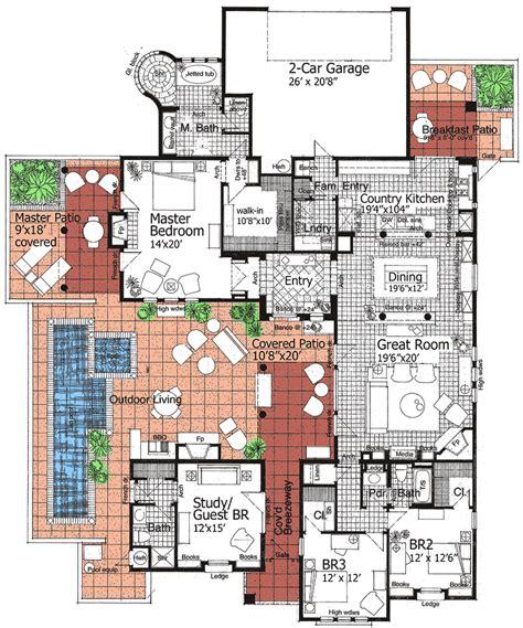 southwest classic  detached casita rs st floor master suite corner lot courtyard