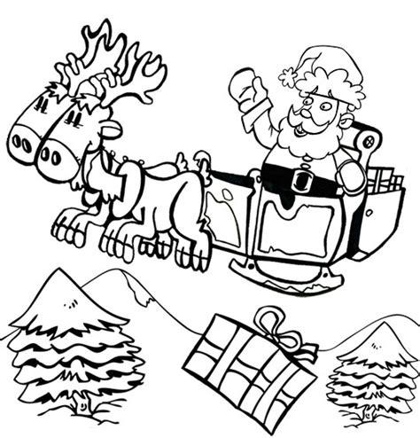 coloriages  dessins pour les enfants sur le theme renne