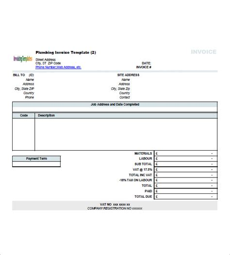 construction invoice template contractor invoice template 8 free sle exle format free premium templates