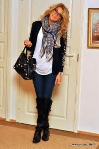 Cute Outfits with Black Jeans and Boots