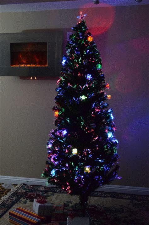 high quality 6 foot pre lit fiber optic christmas tree