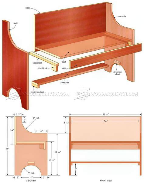 Rustic Bench Plans Woodarchivist