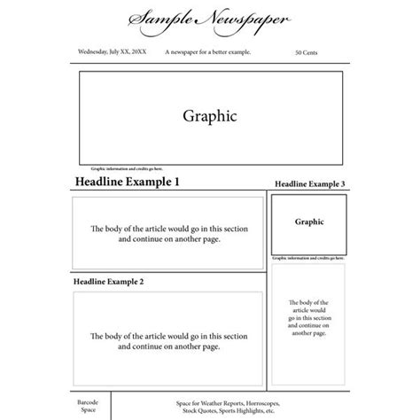 basic newspaper template best photos of blank newspaper layout blank newspaper