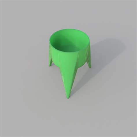 free 3d object pot de fleurs tripode cults