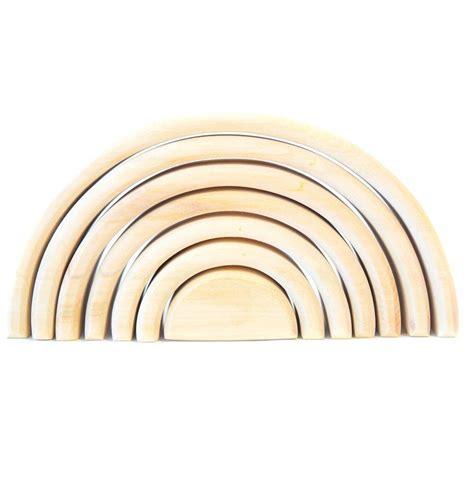 amazoncom wooden toy rainbow stacker montessori waldorf