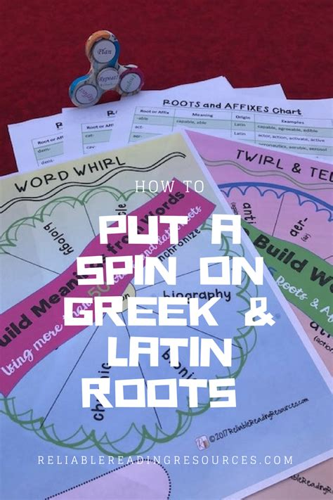 Reinforce, Review And Reteach Greek And Latin Roots