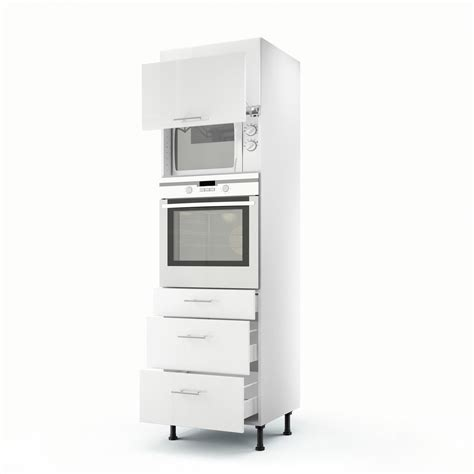meuble cuisine blanc meuble de cuisine colonne blanc 2 portes 3 tiroirs h