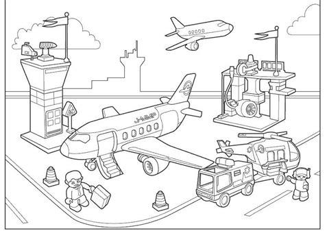 Vliegveld Kleurplaat vliegveld kleurplaat het vliegtuig vervoer