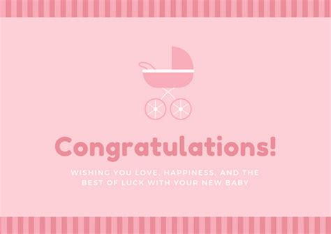 congratulations card for new baby template customize 211 congratulations card templates canva