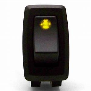 Illuminated Rocker Switch 3 With Yellow Led  12vdc