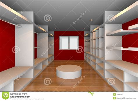 red walk  closet royalty  stock photography image