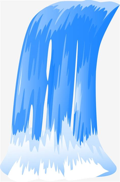 cartoon waterfall illustration waterfall running water