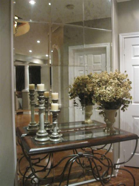 hallway mirrors contemporary entry toronto