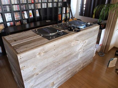 wooden dj table dj booth made of reclaimed wood suddenly the misses doesn
