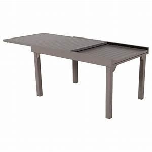 Table De Jardin Extensible Aluminium : table de jardin extensible piazza aluminium 270 x 90 cm ~ Teatrodelosmanantiales.com Idées de Décoration