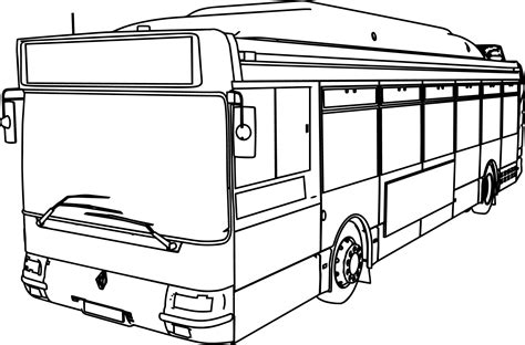Renault Gnv Cts Bus Coloring Page Wecoloringpagecom