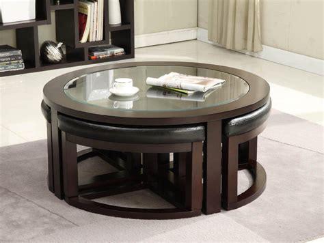 coffee table with 4 ottomans underneath rascalartsnyc