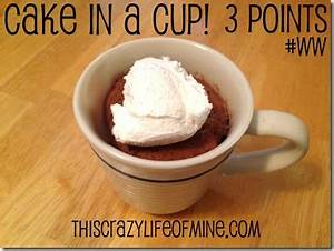 cake in a cup 5 edit Weight Watchers Pinterest Cups
