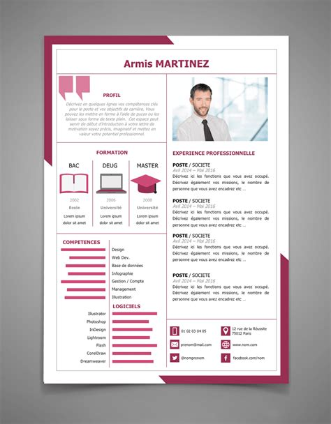 Lettre De Cv by Exemple De Cv Avec Lettre De Motivation L Cr 233 Er Un Cv