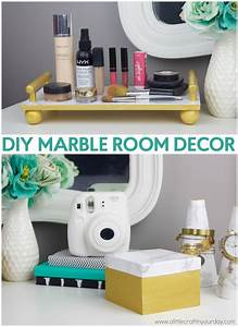 DIY Marble Room Decor - A Little Craft In Your Day