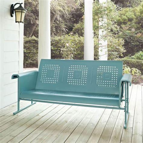 furniture cool aqua retro porch glider design for