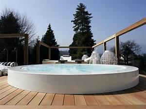 Mini Whirlpool Balkon : whirlpool mit berlauf f r aussen minipool eingebauter ~ Watch28wear.com Haus und Dekorationen