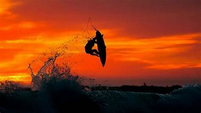 Surfing Wallpapers Surf Surfer Sunset Waves Widescreen