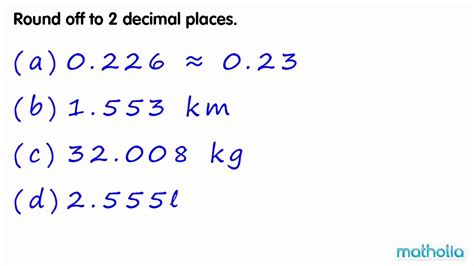 rounding to 2 decimal places youtube