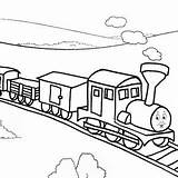 Caboose Train Drawing Coloring Railroad Getdrawings sketch template