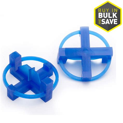 Tavy 332 Tile Spacers by Shop Tavy 100 Pack 1 In W X 1 In L 3 16 In Blue Plastic