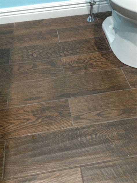 tile flooring upstairs porcelain wood look tile in upstairs bathroom home depot house remodeling