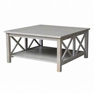 international concepts hampton weathered grey square With square gray wood coffee table
