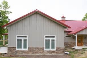 Wrap around Porch Metal Building Home