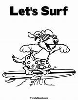 Coloring Pages Surfing Luau Party Surfer Drawing Beach Printable Dog Silver Colouring Clip Getdrawings Popular Handouts Activity Library Clipart Painting sketch template
