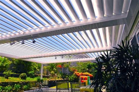 Louvered Patio Cover Diy by Www Ecoshade Com Three Bay Ecoshade Louvered Roof Each