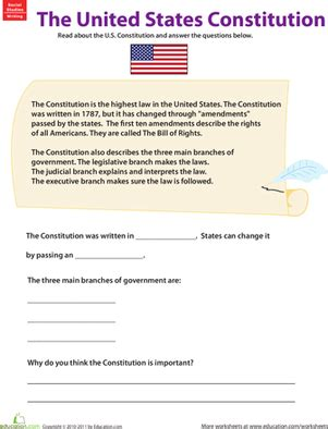 learn about the u s constitution civics government
