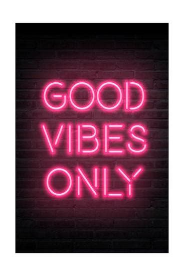 Vibes Neon Wallpaper by Vibes Only Pink Neon Posters At Allposters