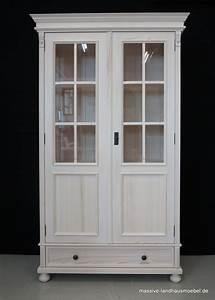 Landhaus Vitrine Weiß : massive landhausm bel 5514 vitrine 2t classic landhaus aus massivholz wei ~ Frokenaadalensverden.com Haus und Dekorationen